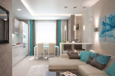 Ремонт однокомнатной квартиры в Голубое