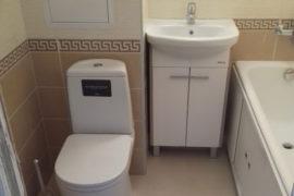 Ремонт совмещенной ванной комнаты под ключ в Зеленограде