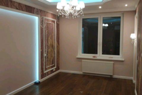 Ремонт трехкомнатной квартиры под ключ в Красногорске